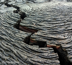 Pahoehoe lava on Santiago