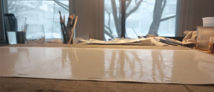 soaking paper